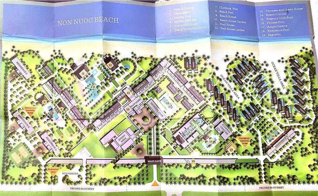 ダナン ハイアットリージェンシーの地図